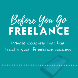 Before You Go Freelance Private Coaching Product Image